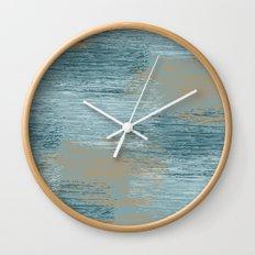 Abstract Sea Wall Clock