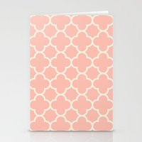 MOROCCAN {CORAL & OFF WH… Stationery Cards
