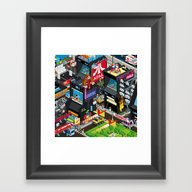 Framed Art Print featuring GAMECITY by Totto Renna
