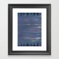 Purple City Framed Art Print