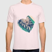 Converse Love in White Mens Fitted Tee Light Pink SMALL