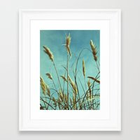 Aesthetic Grass Framed Art Print
