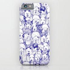 just alpacas blue white iPhone 6s Slim Case