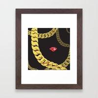 Luxury Red Framed Art Print