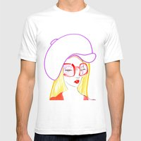 Hip Girl Mens Fitted Tee White SMALL
