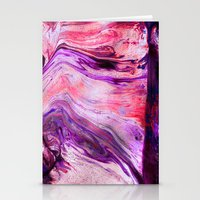 Marbled Garnet  Stationery Cards