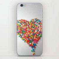 Colorful Heart iPhone & iPod Skin