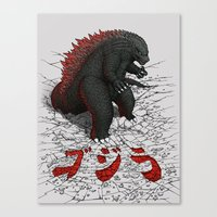The Great Daikaiju Canvas Print