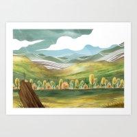 Goldenrod Grassland Art Print