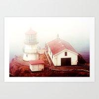 Light Tower Point Reyes Art Print
