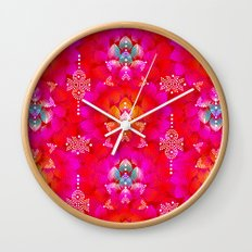 Variations on A Feather IV - Stars Aligned (Firebird Edition) Wall Clock