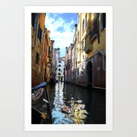 Painted Water Art Print
