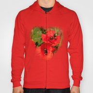 Poppies With Guests Hoody