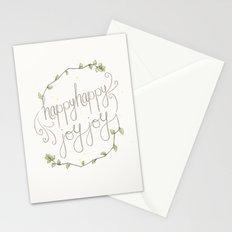 happy happy joy joy Stationery Cards