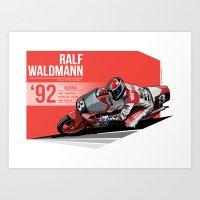 Ralf Waldmann - 1992 Suz… Art Print