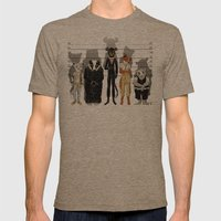 Unusual Suspects Mens Fitted Tee Tri-Coffee SMALL