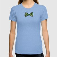 Bow Ties Womens Fitted Tee Tri-Blue SMALL
