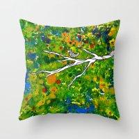 Bird Out The Bush Throw Pillow