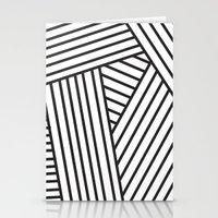 Optical Stripes Stationery Cards