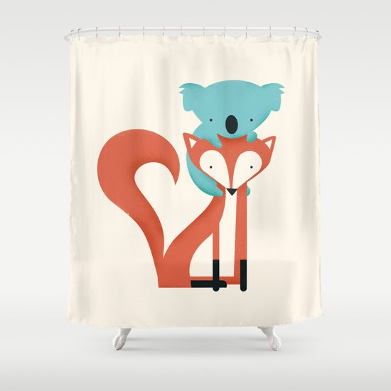 Fox & Koala Shower Curtain