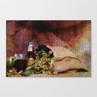 Beer and Hops Canvas Print