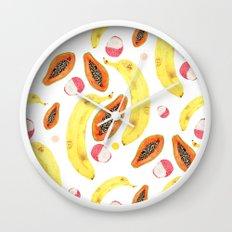 tropical juice (white) Wall Clock