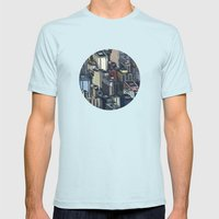 In The City Mens Fitted Tee Light Blue SMALL