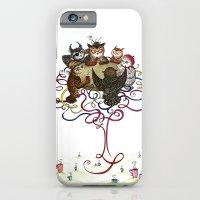 iPhone & iPod Case featuring Art School Owl Assembly by Mariya Olshevska