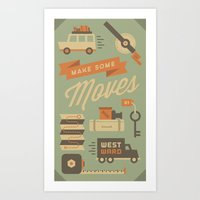 Move To California Art Print