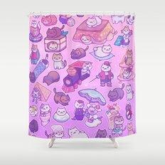 Neko Atsume Shower Curtain