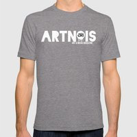 ARTNOIS  Mens Fitted Tee Tri-Grey SMALL