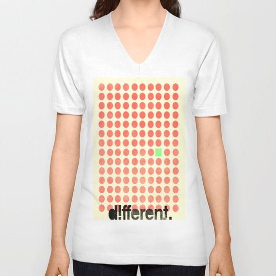 be different V-neck T-shirt