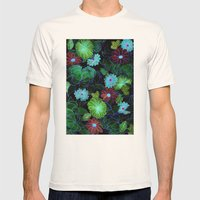 Oriental blossom (night version) Mens Fitted Tee Natural SMALL