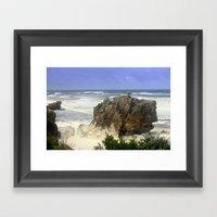 Sea Foam Residue Framed Art Print