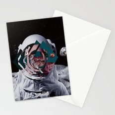 Spaceman oh spaceman, come rescue me (teal) Stationery Cards