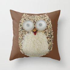 Specs, The Grainy Owl! Throw Pillow
