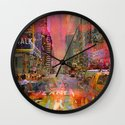 traffic jam pink Wall Clock