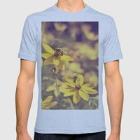 Summer  Bee Mens Fitted Tee Athletic Blue SMALL