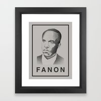 Fanon (Monochrome) Framed Art Print