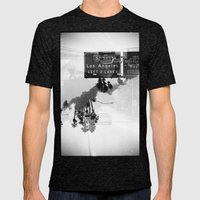 Landscapes (35mm Double Exposure) Mens Fitted Tee Tri-Black SMALL