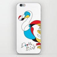 Doodle Bird iPhone & iPod Skin