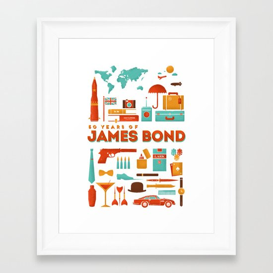 James Bond 50 Years  Framed Art Print