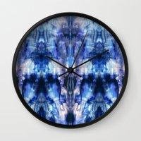 Blue Lagoon Tie-Dye Wall Clock