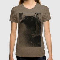 feet Womens Fitted Tee Tri-Coffee SMALL