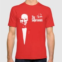 The Sopranos (The Godfather mashup) Mens Fitted Tee Red SMALL
