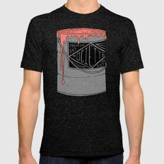 PREMIUM PAINT Mens Fitted Tee Tri-Black SMALL