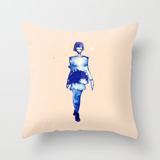 Models Ink 2 Throw Pillow