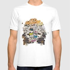 Drawing Collage #03 White Mens Fitted Tee SMALL