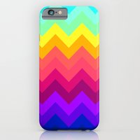 iPhone & iPod Case featuring Rainbow Chevron by Enyalie