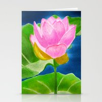 Pink Lotus Beauty Stationery Cards